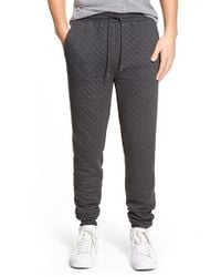 Threads For Thought | Gray Quilted Jogger Pants for Men | Lyst