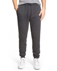 Threads For Thought - Gray Quilted Jogger Pants for Men - Lyst