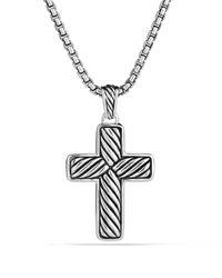 David Yurman | Metallic Exotic Stone Small Reversible Cross with Black Onyx 20 for Men | Lyst