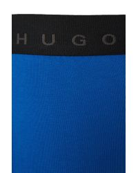 BOSS - Blue Cotton-blend Boxer Shorts In A Double Pack: 'cyclist 2p Fn Solid' for Men - Lyst