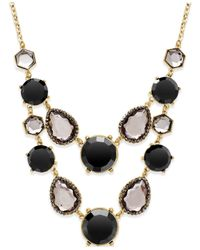 INC International Concepts | Black Gold-tone Jet Multi-stone Bib Necklace | Lyst