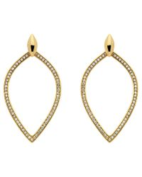 Melissa Odabash | Metallic Crystal Open Teardrop Earrings | Lyst