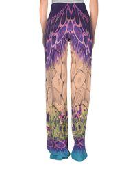 Alberta Ferretti - Purple Casual Trouser - Lyst
