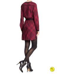 Banana Republic - Red Factory Print Shirt Dress - Lyst