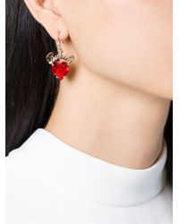 Mawi | Red 'rubies' Slogan Earrings | Lyst