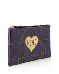 Forever 21 - Blue Plaid Nerd Cosmetic Pouch - Lyst