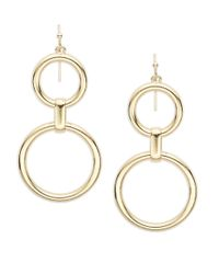 R.j. Graziano | Metallic Open-hoop Drop Earrings | Lyst