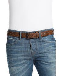 BOSS Orange - Brown 'Juvan' | Braided Leather Belt for Men - Lyst