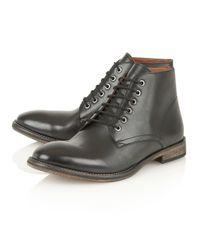 Frank Wright - Brown Oval Mens Lace-up Boots for Men - Lyst