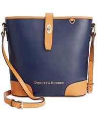 Dooney & Bourke | Blue Claremont Crossbody Bucket | Lyst