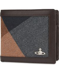 Vivienne Westwood - Gray Coin Holder Wallet for Men - Lyst