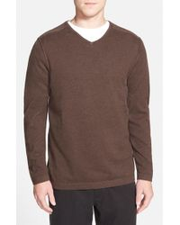 Tommy Bahama | Brown 'seaside Lux' V-neck Sweater for Men | Lyst