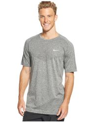 Nike - Gray Dri-Fit Crew-Neck Performance T-Shirt for Men - Lyst