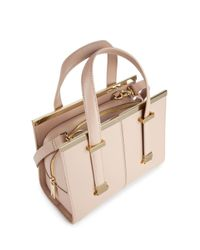Ted Baker - Pink Cristie Small Crosshatch Satchel - Lyst