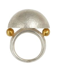 Gurhan - Metallic Hammered Silver Dome Ring - Lyst