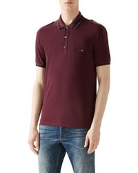 Gucci | Purple Cotton Piquet Polo for Men | Lyst