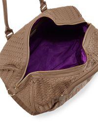Deux Lux - Brown Gramercy Fauxleather Weave Weekender Bag Taupe - Lyst