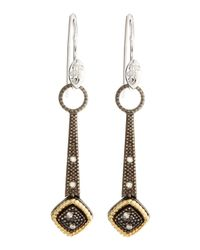 Jude Frances | Metallic Stiletto Pebble Charm Earrings | Lyst