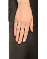 Aurelie Bidermann | Metallic Thin Gold Star Ring - Gold | Lyst