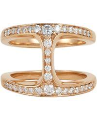Hoorsenbuhs - Metallic Diamond & Rose Gold Dame Phantom Ring - Lyst