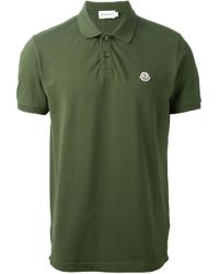 Moncler | Green Classic Polo Shirt for Men | Lyst