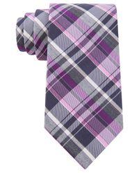 Michael Kors - Purple Tussah Plaid Tie for Men - Lyst