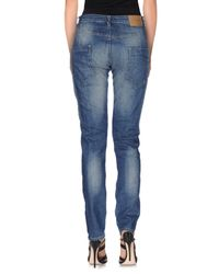 Please | Blue Denim Trousers | Lyst