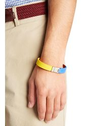 DSquared² - Blue Tri-Tone Leather Wrap Bracelet for Men - Lyst