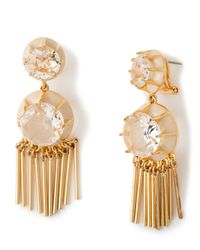Lele Sadoughi - Metallic Double-drop Crystal Fringe Earrings - Lyst