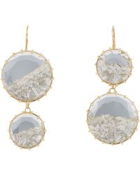 Renee Lewis - Blue Shake Double-drop Earrings - Lyst