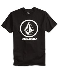 Volcom - Black Circle Stone Graphic-print Logo T-shirt for Men - Lyst