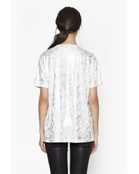 French Connection | White Rainbow Snakeskin T-shirt | Lyst