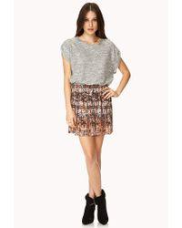 Forever 21 | Brown Day Dreamer Abstract Mini Skirt | Lyst