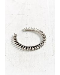 Giles & Brother - Metallic Thin Ball Cuff Bracelet - Lyst