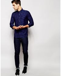 Junk De Luxe - Blue Jacquard Shirt for Men - Lyst