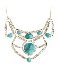 Alexis Bittar | Blue Crystal Mosaic Geometric Bib Necklace | Lyst