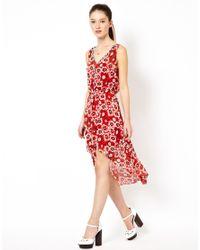 Traffic People | Red Meggy Dip Hem Dress | Lyst
