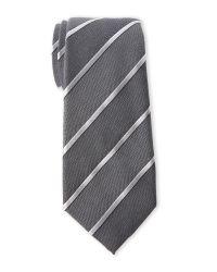 Vince Camuto - Black Bertoni Stripe Silk Tie for Men - Lyst