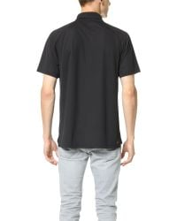 Lacoste | Black Raglan Performance Polo for Men | Lyst