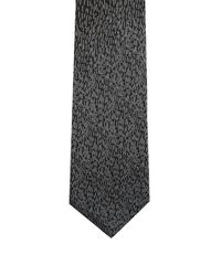 Lanvin - Black Jacquard-dégradé Silk-satin Slim Tie for Men - Lyst