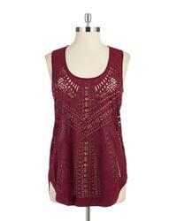 Sam Edelman | Purple Laser-cut Tank | Lyst