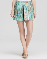 Misha Nonoo | Green Shorts - Virginia Printed Silk | Lyst