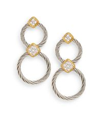 Charriol | Metallic Classique Diamond Circle Earrings | Lyst