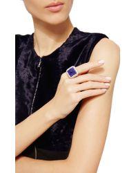 Nina Runsdorf - Blue Tanzanite Sugar Loaf Diamond Ring - Lyst