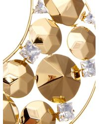 Vickisarge Metallic Fallen Angel Crystal Gold-Plated Necklace