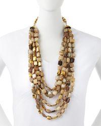 Ashley Pittman | Natural Kila Light Horn Multi-strand Necklace | Lyst