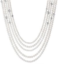 David Yurman | White Starburst Pearl Muli-row Necklace With Diamonds | Lyst