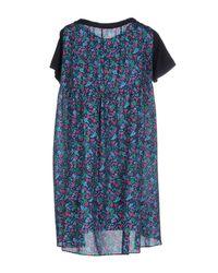 Sacai Luck - Blue Short Dress - Lyst