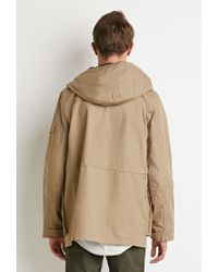 Forever 21 - Natural Hooded Utility Jacket for Men - Lyst