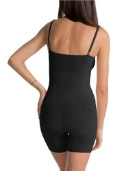 Spanx   Black Oncore Mid-thigh Bodysuit   Lyst